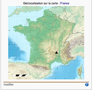 Ce point sur une carte, simple et efficace.